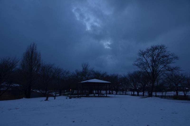 公園の夕暮れ-2