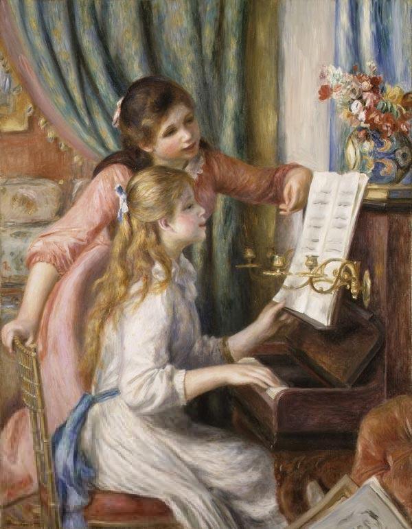 ピアノに寄る娘たち アート名画館 ルノワール ルノアール