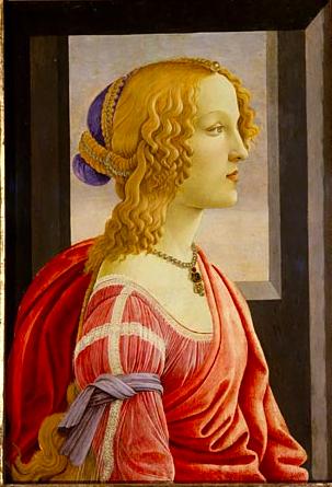 ボッティチェリ 美しきシモネッタの肖像 アート名画館