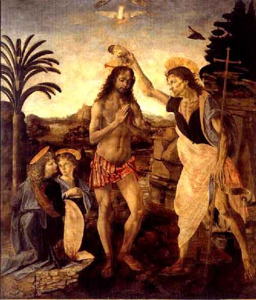 キリストの洗礼 ダヴィンチ アート名画館