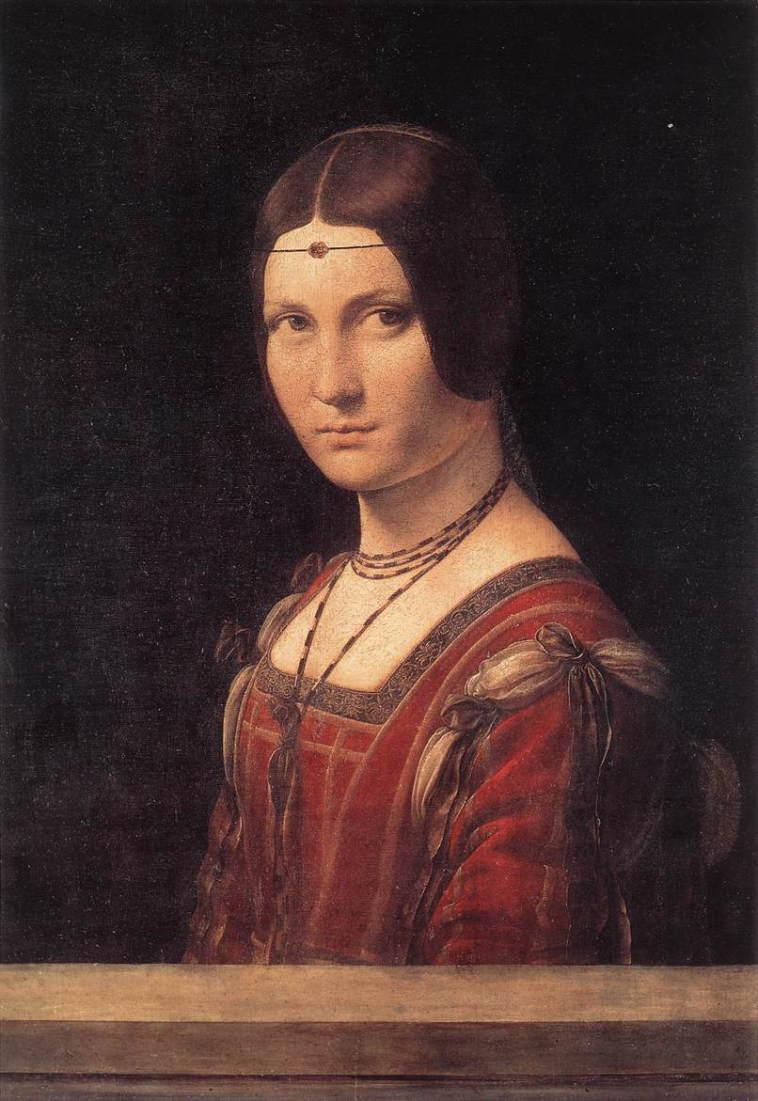 ミラノの貴婦人の肖像 アート名画館 ダヴィンチ