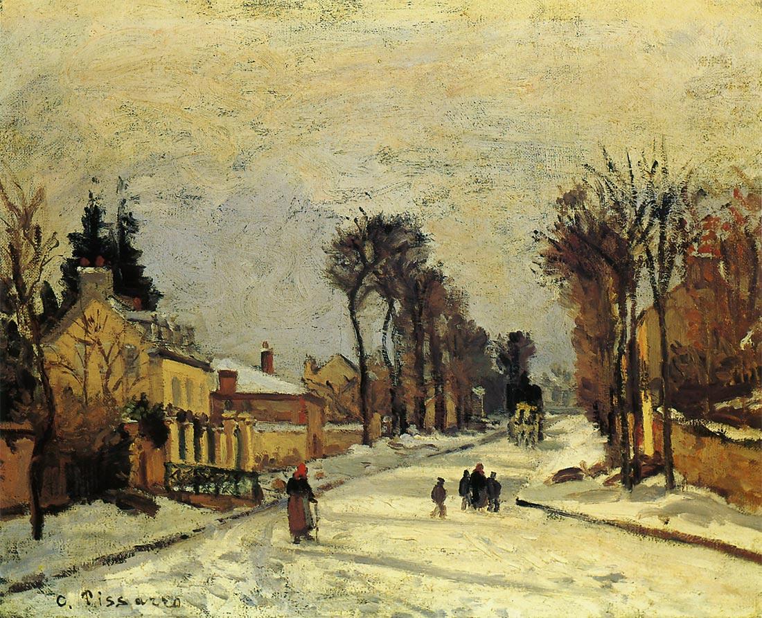 ルーヴシエンヌのヴェルサイユ街道 雪の効果