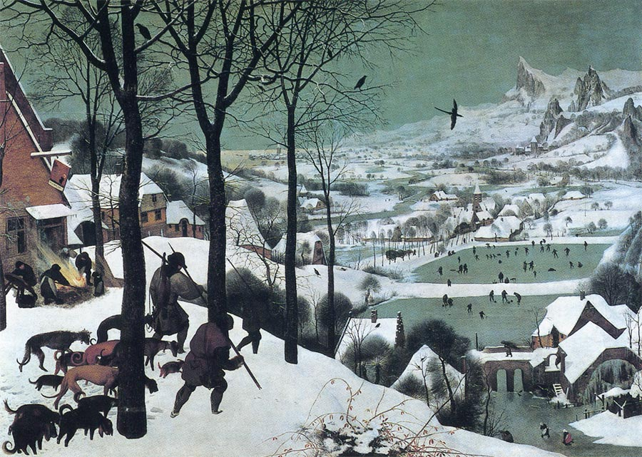雪中の狩人 ブリューゲル アート名画館