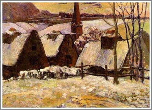 雪のブルターニュ アート名画館 ゴーギャン