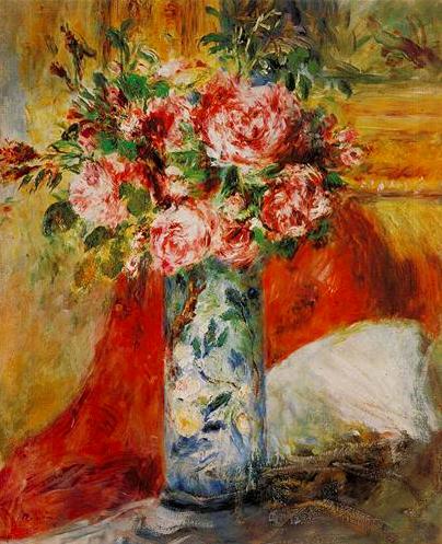 ルノワール ルノアール 花瓶のばら 1876年