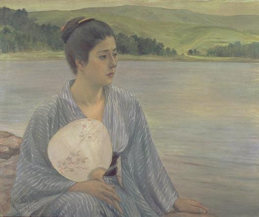 黒田清輝 湖畔 アート名画館