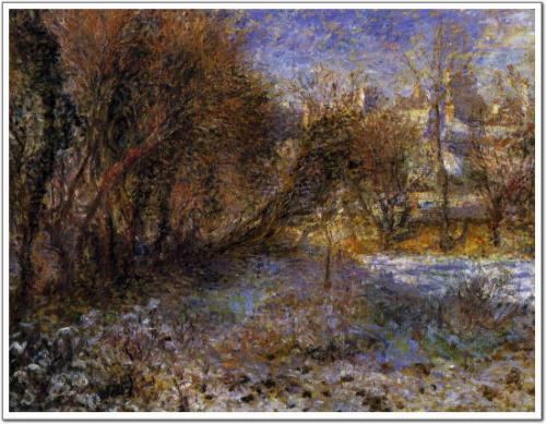 ルノアール 冬景色