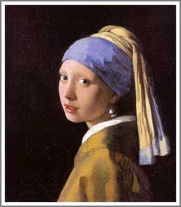 真珠の首飾りの少女 青いターバンの少女 フェルメール