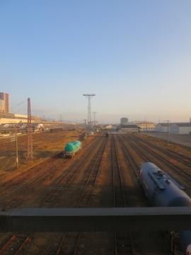 郡山駅の朝