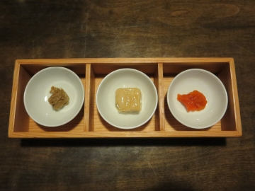 鮎の渋うるか・豆腐よう・塩雲丹