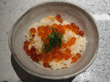 秋鮭といくらの親子飯