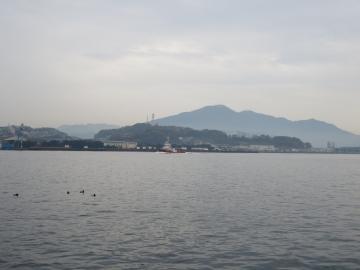 海越しの帆柱・皿蔵山は若松ならではの風景