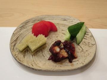 子持ち昆布、蛸、野菜