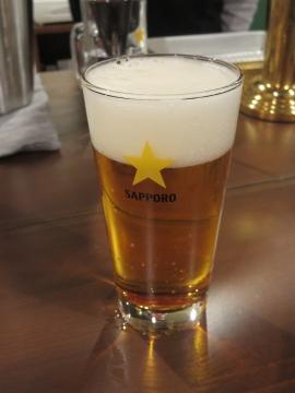 エビス樽生ビール 450円