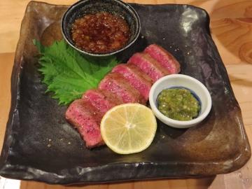 福岡県産黒毛和牛のステーキ 1680円