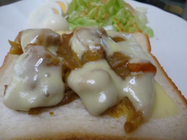2/18 カレーチーズトースト&マーマレードケーキ