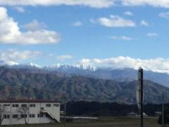 南アルプスの雪