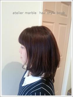 atelier marble hair style book オリジナルヘアカタログ ヘアデザイン カラーリング ヘッドスパ 縮毛矯正 ストレートパーマ デジタルパーマ