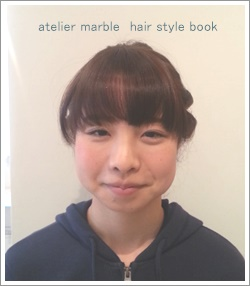 atelier marble hair style book オリジナルヘアカタログ ヘアデザイン カラーリング