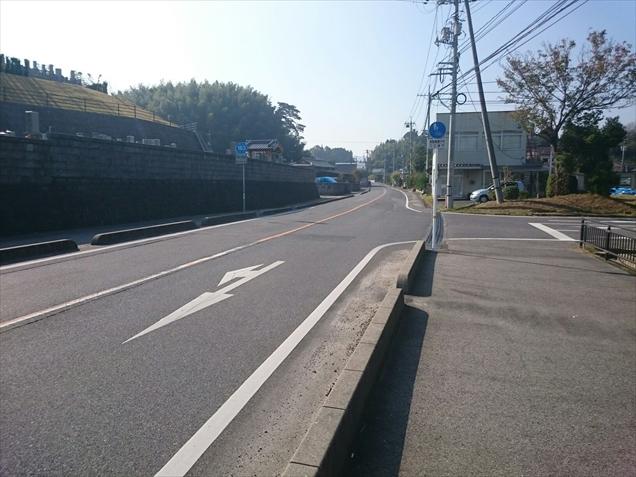 県道163号線田布施町役場付近