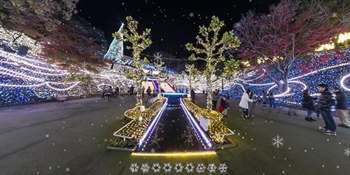 360°パノラマ写真 -西武遊園地 イルミネーション-