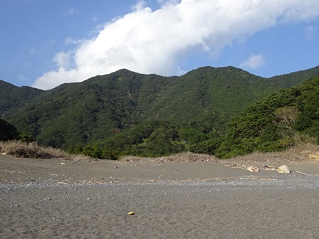 芦浜から姫越山
