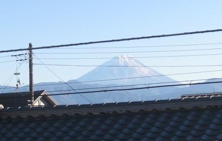 正月元旦の富士