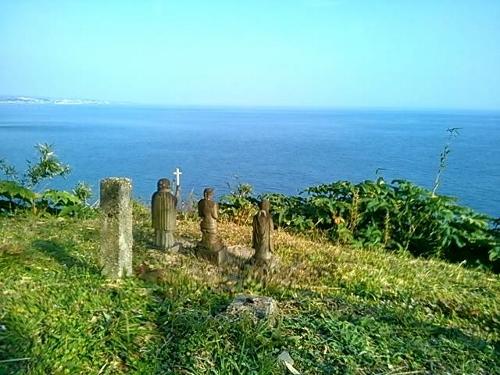 原城から海