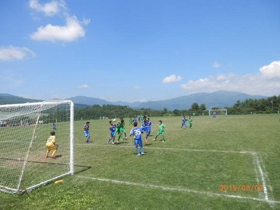夏季のサッカー合宿