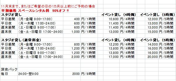 価格表2015