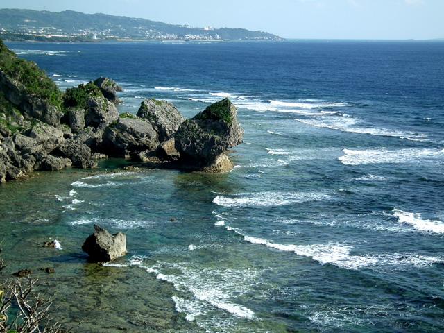 慶座絶壁の遊歩道からの風景(1)
