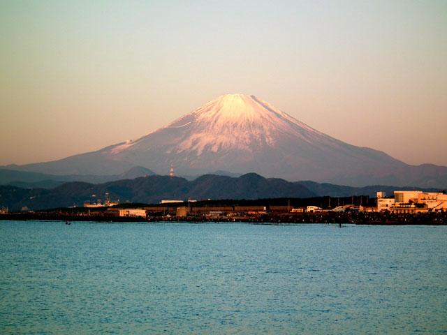2016年初日の出・茅ヶ崎サザンビーチからの富士山(3)