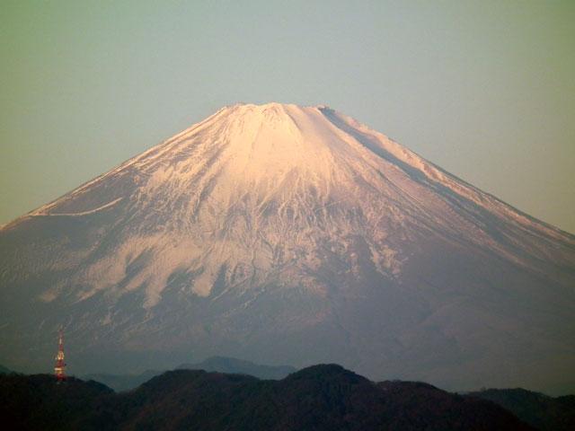 2016年初日の出・茅ヶ崎サザンビーチからの富士山(2)