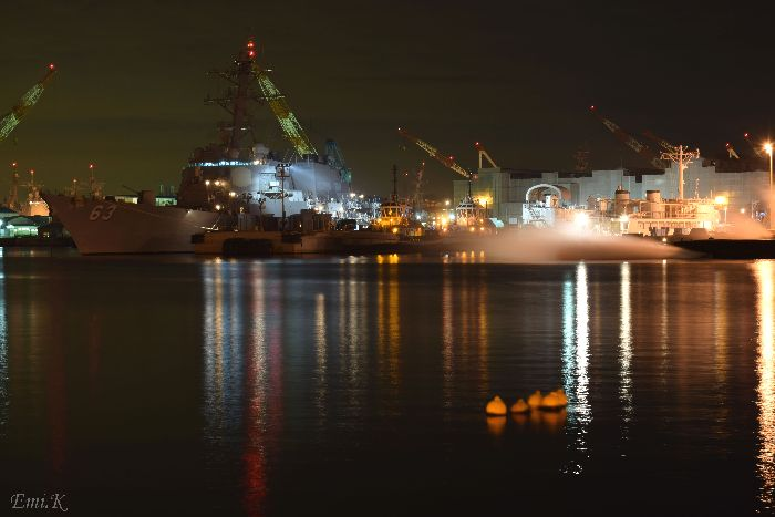 089-New-Emi-横須賀製鉄所(造船所)ドライドッグ米海軍の艦船