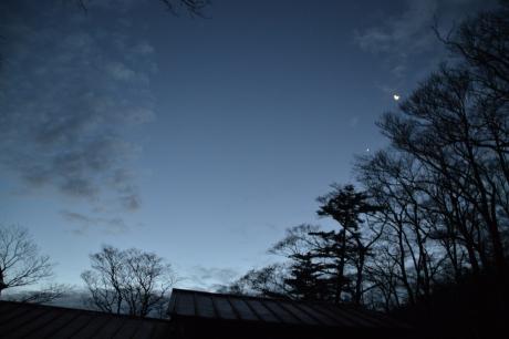 1月と金星