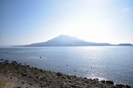2眩しい桜島