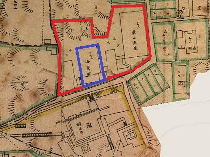 東山温泉洛東園古地図