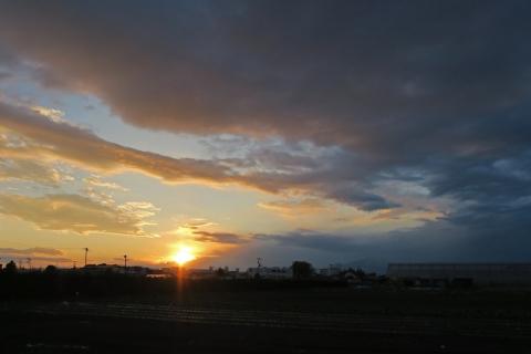 10境川CRの夕日