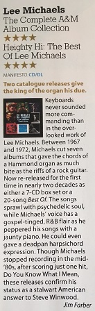 Lee Michaels - 4 Stars in Mojo