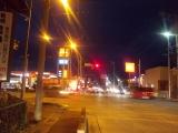 秩父市街から夜間走行