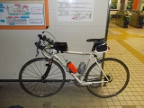 小川町駅でブルベ終了