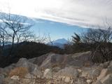 小金沢山頂上から見た富士山