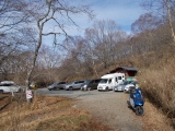 湯ノ沢峠の駐車場