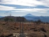大蔵高丸から見た富士山