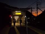 早朝の笹子駅