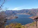 展望台からの河口湖