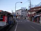 東野のバス停へ