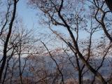 尾根上から見る富士山