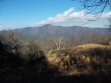 浅間嶺から御前山を望む
