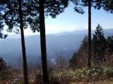 尾根から見る富士山